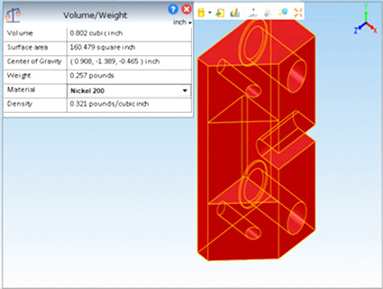 Three simple steps to compute weight of a part for